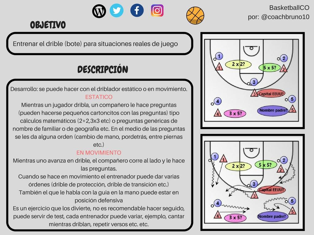 bruno 2 - Ejercicio de bote para situaciones reales de juego (por @coachbruno10)
